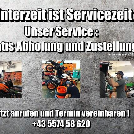Winterzeit ist Servicezeit  Winterzeit ist Servicezeit  Unser Service :  Gratis Abholung und Zustellung Im Umkreis von ca. 30 Km     Deine Vorteil... Weiter >>