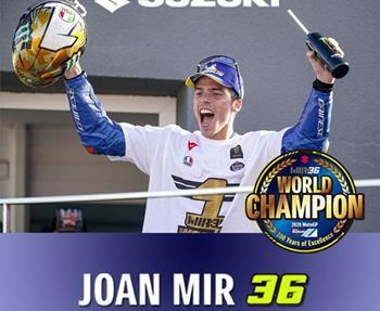 Joan Mir und das Suzuki ECSTAR Team sind MotoGP-Weltmeister 2020! Sowohl in der Fahrer als auch in der Team-Wertung konnte Suzuki ... Weiter >>