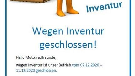 NEWS Wegen Inventur ?geschlossen!
