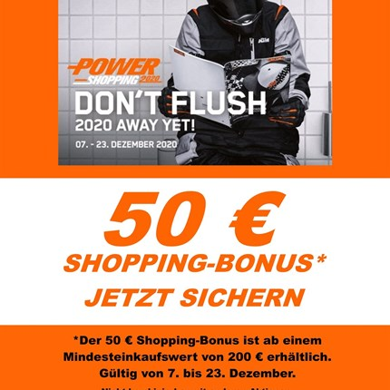 Nur noch heute 50 € Shopping Bonus !!  Nur noch heute 50 € Shopping Bonus !!