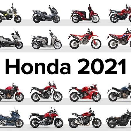 Honda Motorräder und Roller Modelljahr 2021Preise