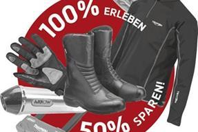 TRIUMPH Promotion: 100% Erleben. 50% Sparen anzeigen