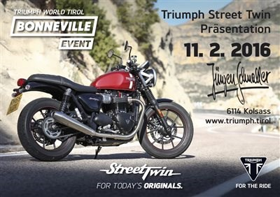 Triumph Street Twin Day - 11. 02. 2016