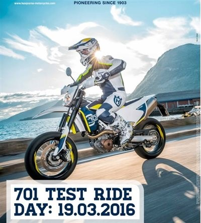 701 Ride Test Day 19.03.2016. 9-16Uhr