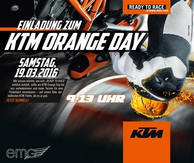 KTM Orange Day - 19. März