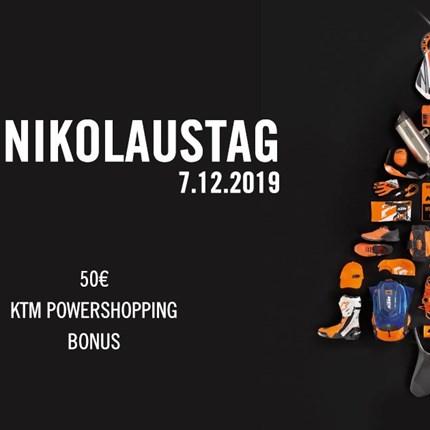 Einladung zum KTM Nikolaustag Auch heuer veranstalten wir wieder den traditionellen KTM Nikolaustag. Nutzen Sie die Gelegenheit Weihnachtsgeschenke zu kaufen un... Weiter >>