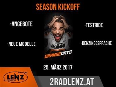 KTM Orange Day Die Motorradsaison steht endlich in den Startlöchern! Deshalb gibt es auch dieses Jahr, am 25.3.2017, wieder den KTM Orange Day.... Weiter >>