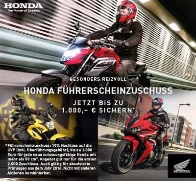 Honda Führerscheinzuschuss
