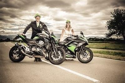 Wieder ein Kawasaki-Hochzeitspaar