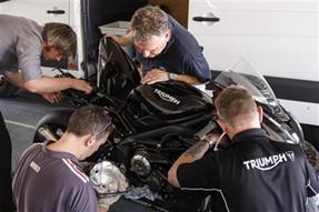TRIUMPH Moto2 Motor - erster Test/Video anzeigen