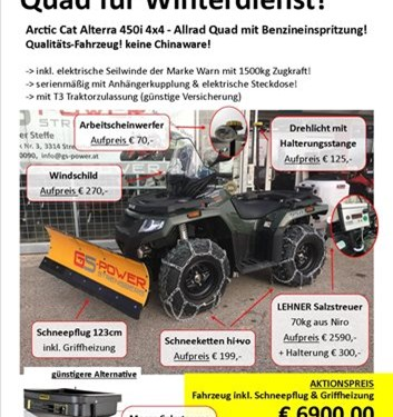 GS-POWER Ing. Günther Steffe-News: Quad WINTER-AKTION bei GS-Power in Strengberg!