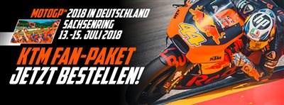 Moto GP KTM Fanpackage 2018 Wir freuen uns euch mitteilen zu können, dass ihr ab sofort bei uns das KTM Fan Package Sachsenring 2018 bestellen könnt  Das KT...