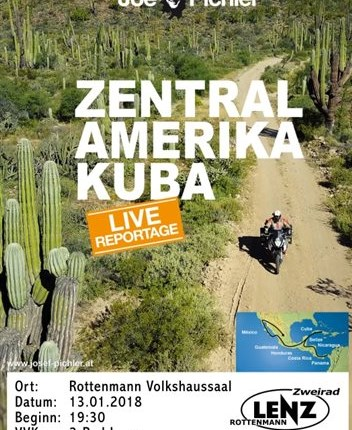 Joe Pichler - Zentralamerika Kuba  Zentralamerika & Kuba Abenteuer pur auf über 19.000 km: Renate und Joe Pichler durchstreifen auf ihrer KTM ganz Zentralamerika ... Weiter >>