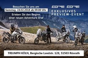 Premiere der brandneuen Adventure-Bikes Tiger 800 und Tiger 1200  anzeigen