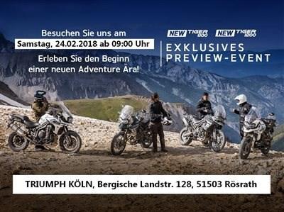Premiere der brandneuen Adventure-Bikes Tiger 800 und Tiger 1200