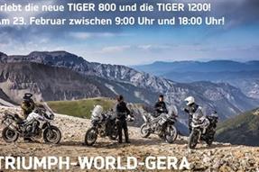 Die neue TIGER 800 und TIGER 1200 - LIVE anzeigen
