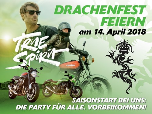 Kawasaki Drachenfest am 14. April 2018