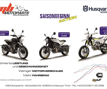 MB Motoparts-News: >>>HUSQVARNA SOFTWARE-OPTIMIERUNG<<<