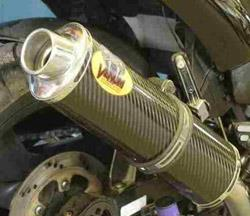 Motad Schalldämpfer Venom EG high up 2SD slip on hoch verlegt Carbon