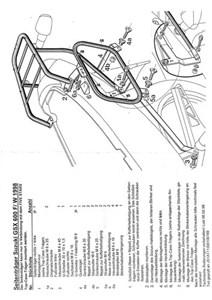 Bild von Suzuki GSX600F Seitenkofferträger
