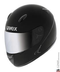 Uvex Flash S schwarz met. shiny
