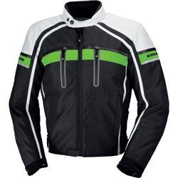 IXS Textiljacke Deventer M & L grün schwarz weiß