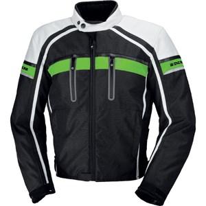Bild von IXS Textiljacke Deventer M & L grün schwarz weiß