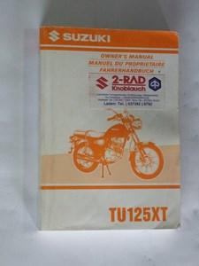 Bild von Suzuki Fahrerhandbuch TU125XT