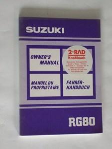 Bild von Suzuki Fahrerhandbuch RG80