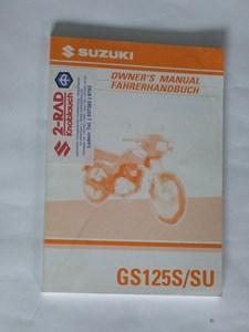 Bild von Suzuki Fahrerhandbuch GS125S/SU