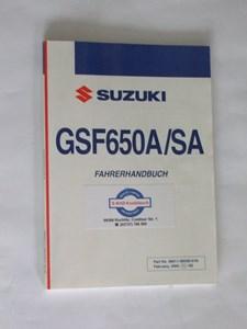 Bild von Suzuki Fahrerhandbuch GSF650A/SA