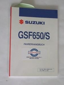 Bild von Suzuki Fahrerhandbuch GSF650/S