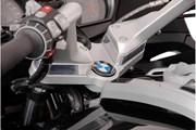 Lenkererhöhung. H=25 mm. Silbern. BMW R1200 RT (05-13).