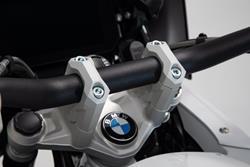 Lenkererhöhung. H=40 mm. Silbern. R1200GS LC/Adv/Rallye, R1250GS.