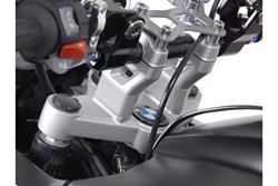 Lenkererhöhung. H=30 mm. Silbern. BMW R1200GS/Adventure (08-).