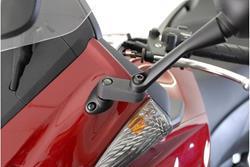 Spiegelverlängerung. Schwarz. Max. Verlegung: 40 mm. Honda.