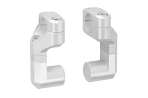 Bild von Vario-Lenkerverlegung für Ø 22 mm Lenker. Erhöhung/Verlegung variabel. Silbern.