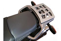 ALU-RACK Gepäckträger. Silbern. Honda XL125V / XL650V / XL1000V / XRV750.