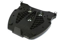 Adapterplatte für ALU-RACK Gepäckträger. Für Givi/Kappa Monokey. Schwarz.