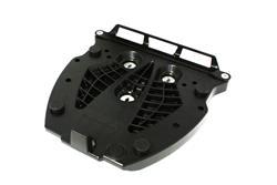Adapterplatte für ALU-RACK Gepäckträger. Für Givi/Kappa Monolock. Schwarz.