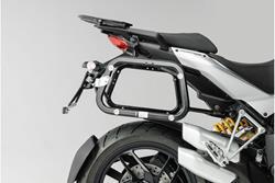 EVO Kofferträger. Schwarz. Ducati Multistrada 1200 / S (10-14).