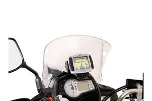 Bild von Navi-Halter im Cockpit. Schwarz. Suzuki DL 650 V-Strom (11-16).