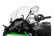 Navi-Halter am Lenker. Schwarz. Kawasaki Z 1000 SX (11-).