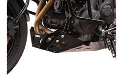 Motorschutz. Schwarz/Silbern. Kawasaki Versys 650 (07-14).