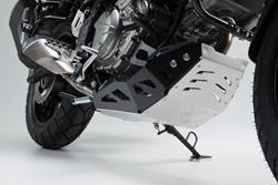 Motorschutz. Schwarz/Silbern. Suzuki DL650 (11-) / XT (15-).