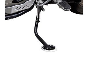 Bild von Seitenständerfuß-Verbreiterung. Schwarz/Silbern. BMW R1200GS / R1200GS Adventure.