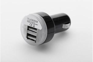 Bild von Doppel-USB-Ladebuchse für Zigarettenanzünder. 2.000 mA. 12 V.