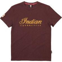 INDIAN T-Shirt braun mit Emblem