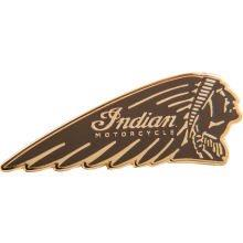 INDIAN Pin Anstecknadel Indianerkopf braun