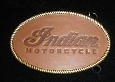 Bild von INDIAN Gürtelschnalle Leder oval